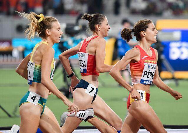 La atleta española Marta Pérez, en el Mundial de Atletismo de 2019 en Doha