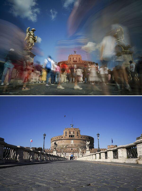 El antes y el después: así quedaron los sitios más turísticos por el coronavirus - Sputnik Mundo