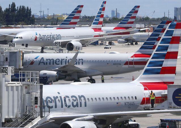 Aviones de la aerolínea American Airlines