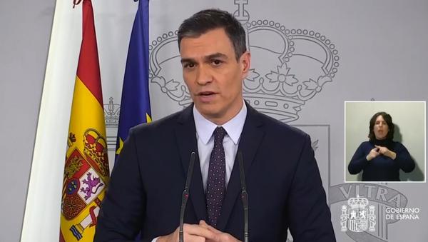 Pedro Sánchez, presidente de Gobierno de España en La Moncloa - Sputnik Mundo