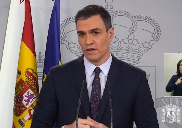 Pedro Sánchez, presidente de Gobierno de España en La Moncloa
