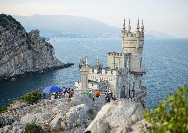 Nido de golondrina en Crimea