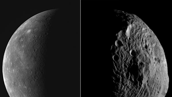 Una imagen de Mercurio sacada por la sonda MESSENGER de la NASA  - Sputnik Mundo