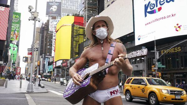 La Times Square de Nueva York durante la pandemía de COVID-19 - Sputnik Mundo
