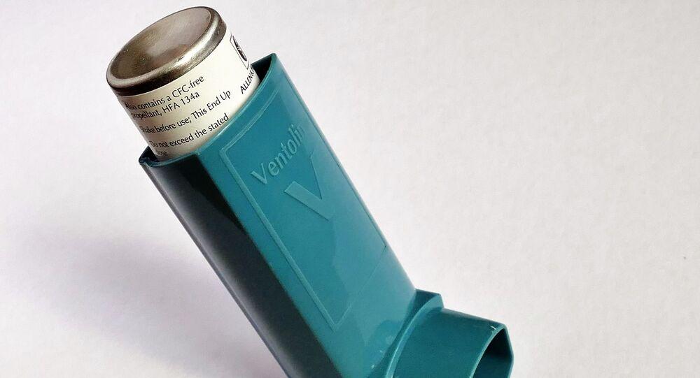 Un inhalador, imagen referencial
