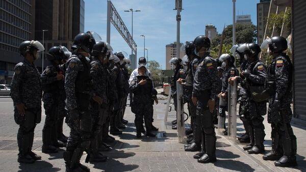 Cuerpos de seguridad en el primer día de cuarentena en Venezuela - Sputnik Mundo