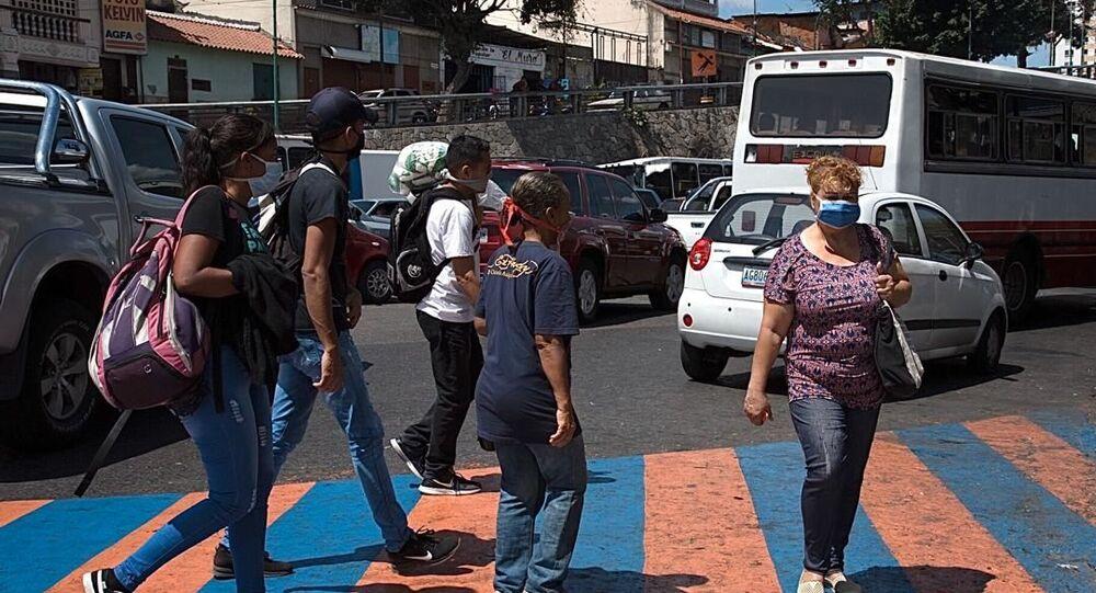 La gente en las calles de Caracas, Venezuela