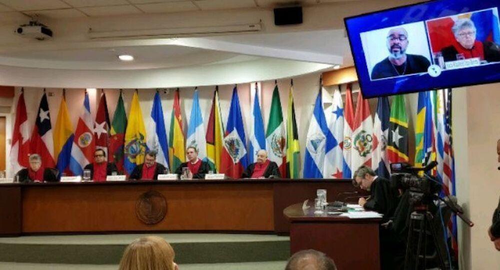 Corte IDH en la audiencia del caso Acosta Martínez y otros vs. Argentina (marzo, 2020)
