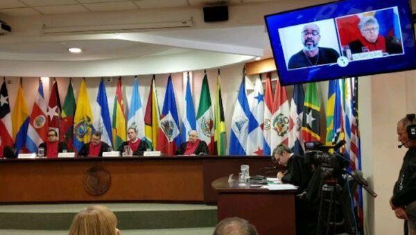 Corte IDH en la audiencia del caso Acosta Martínez y otros vs. Argentina (marzo, 2020) - Sputnik Mundo