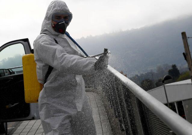 Desinfección de coronavirus en España
