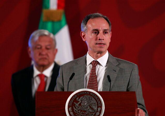 Subsecretario de Prevención y Promoción de la Salud de México, Hugo López-Gatell, y el presidente López Manuel Obrador
