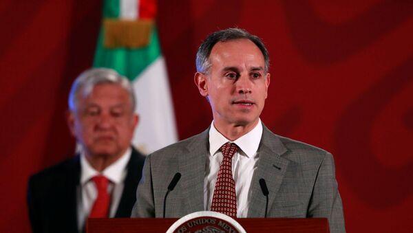 Subsecretario de Prevención y Promoción de la Salud de México, Hugo López-Gatell, y el presidente López Manuel Obrador - Sputnik Mundo