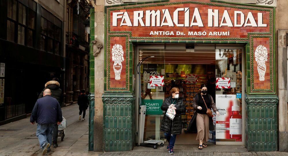 Una farmacia en Barcelona