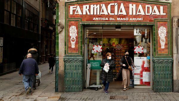 Una farmacia en Barcelona - Sputnik Mundo