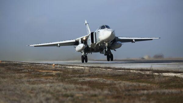 Un avión Su-24M (archivo) - Sputnik Mundo