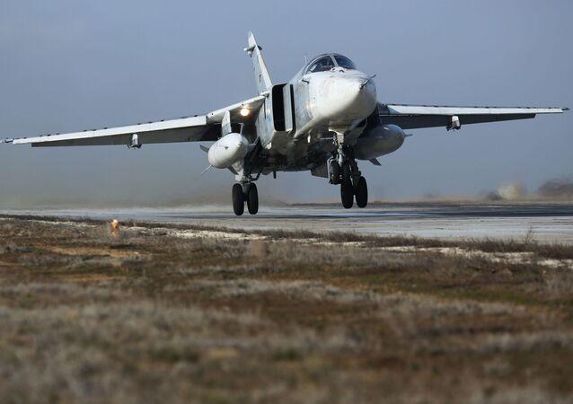 Un avión Su-24M (archivo)
