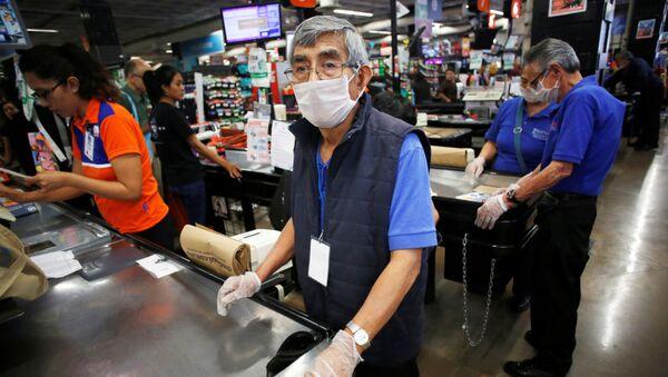 Supermercado en México durante la pandemia de coronavirus - Sputnik Mundo