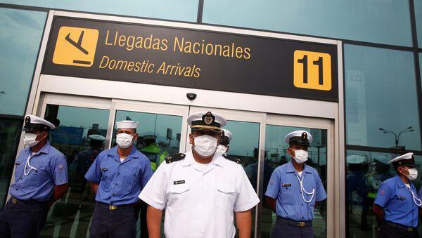 Aeropuerto internacional Jorge Chavez de Perú (imagen referencial) - Sputnik Mundo
