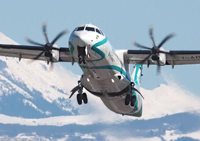Un avión ATR, foto de archivo