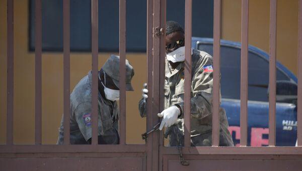 Policías en Haití - Sputnik Mundo