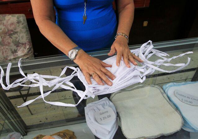 Unas mascarillas en Cuba durante el brote de coronavirus