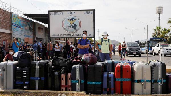 Turistas en Lima, Perú, durante el brote de coronavirus en el mundo - Sputnik Mundo