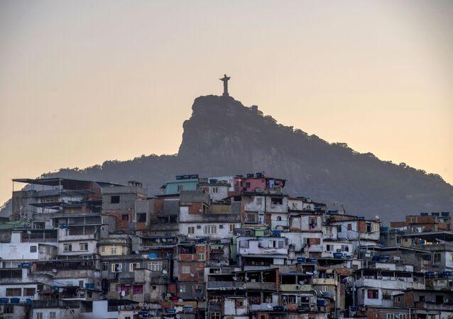 Una favela en Río de Janeiro, Brasil