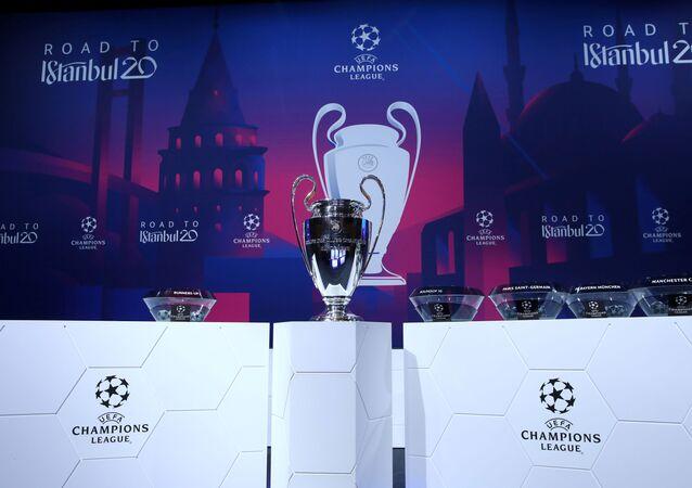 El trofeo del ganador de la Champions League