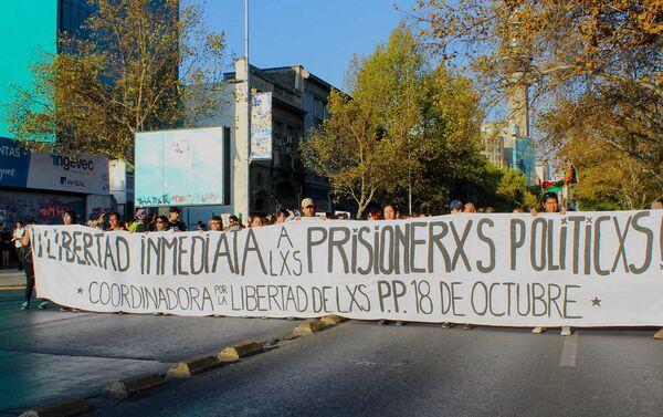 Marcha por presos políticos en Chile - Sputnik Mundo