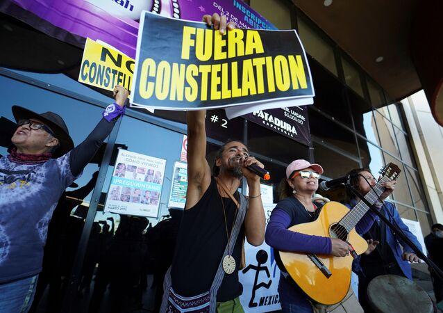 Consulta pública convocada por el Gobierno de México sobre el tema de construcción de una planta de la cervecera Constellation Brands en Mexicali, Baja California.