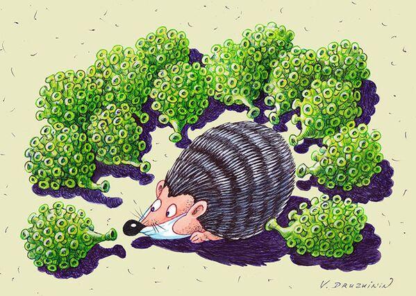 Humor contra la pandemia: el concurso internacional de caricaturas Coronavirus Battle - Sputnik Mundo