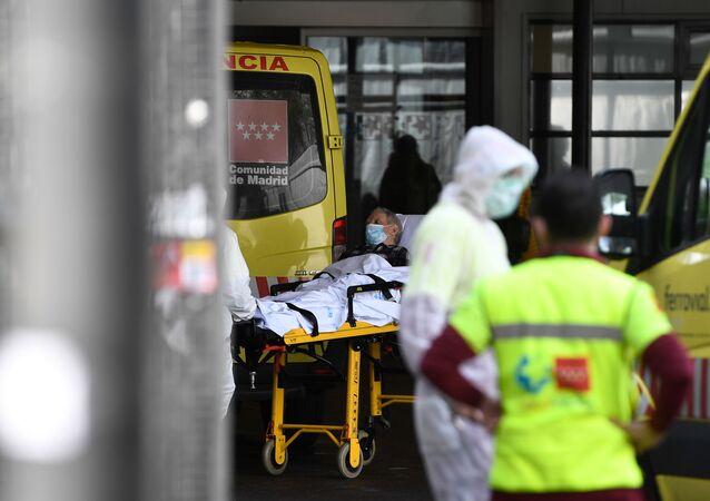 Un enfermo llega a las urgencias de Madrid