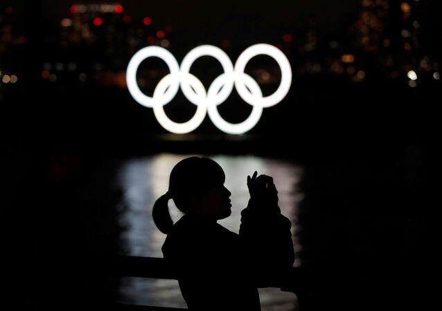 Anillos olímpicos en Tokio, Japón