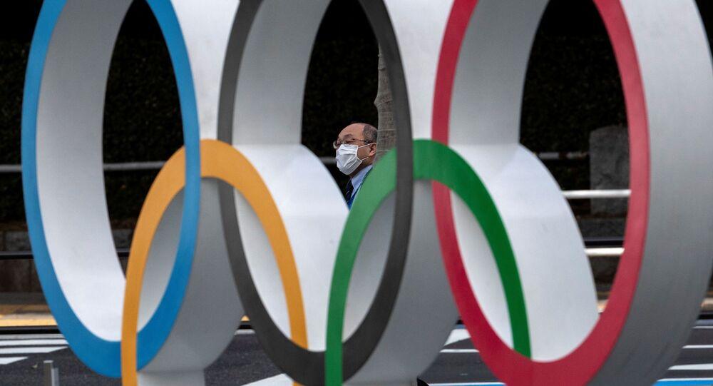Anillos olímpicos en Japón