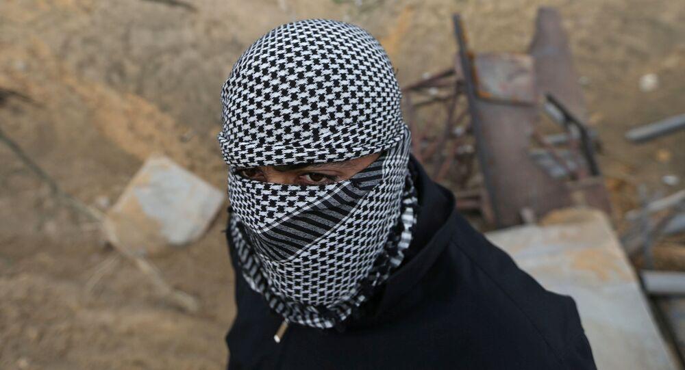 Un militante palestino
