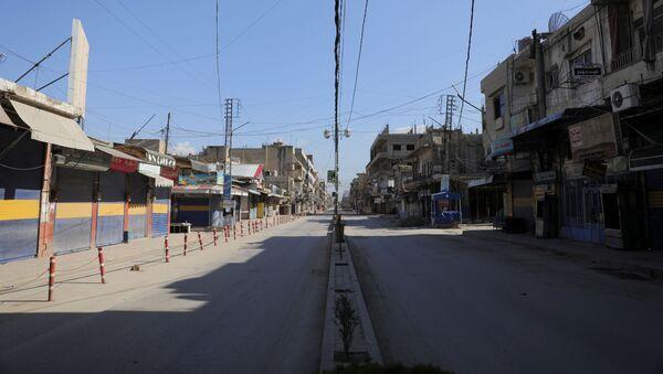 Las calles vacías de una ciudad siria - Sputnik Mundo