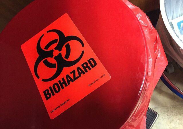 Símbolo del riesgo biológico
