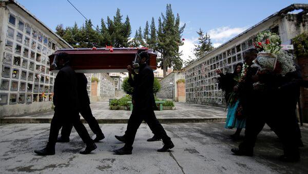 Un funeral en Bolivia (imagen referencial) - Sputnik Mundo