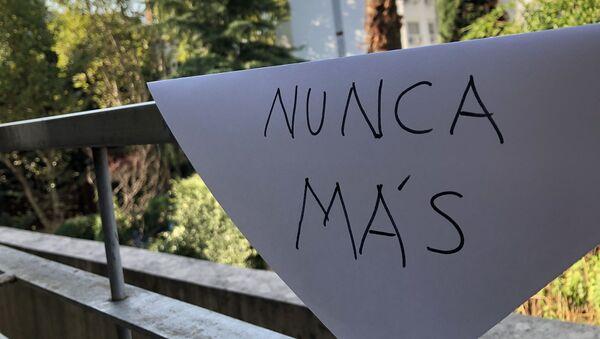 Cartel de Nunca Más, Argentina - Sputnik Mundo