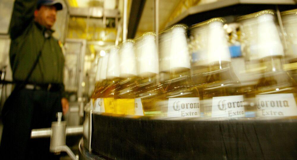 Producción de la cerveza mexicana Corona
