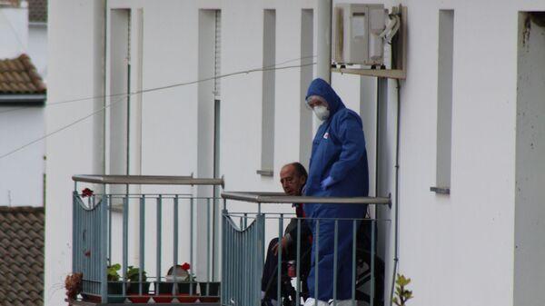 La situación en la residencia de ancianos municipal Dolores Ibárruri La Pasionaria - Sputnik Mundo