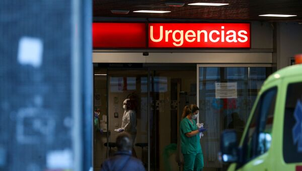 La división de urgencias del hospital La Paz en Madrid - Sputnik Mundo