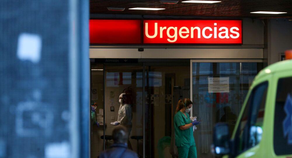 La división de urgencias del hospital La Paz en Madrid