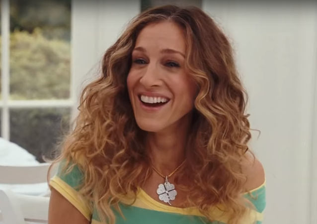Sarah Jessica Parker en la película 'Sex and the city 2', captura de pantalla