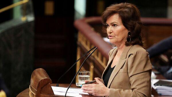Carmen Calvo, la vicepresidenta del Gobierno español - Sputnik Mundo