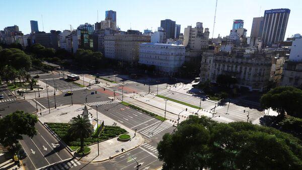 Calles vacías por el coronavirus en Buenos Aiers - Sputnik Mundo