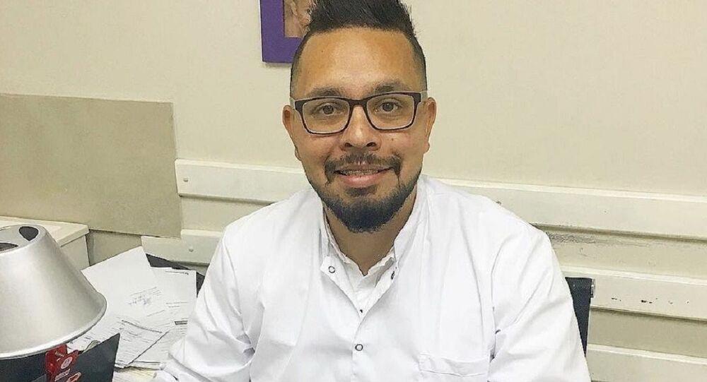 Juan Carlos Guedes, uno de los más de 1.500 profesionales de la salud venezolanos que viven en Argentina