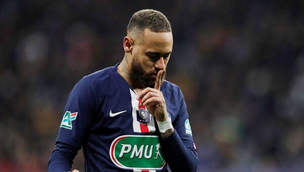 Neymar, un jugador de la selección brasileña - Sputnik Mundo