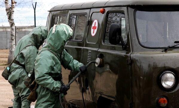 Las tropas rusas, preparadas para librar la batalla contra el coronavirus - Sputnik Mundo
