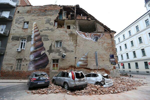 Las consecuencias del potente terremoto en Zagreb, Croacia. - Sputnik Mundo